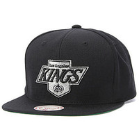 Mitchell & Ness Snapback Hat The Los Angeles Kings Logo Snapback Hat in Black.