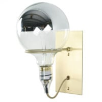 BARE BULB RING SCONCE - BRASS WALL PLATE