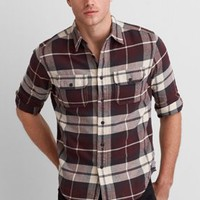 AEO Heritage Flannel, Green | American Eagle Outfitters