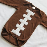 Longsleeve Football Bodysuit, Baby Football, Pigskin Kid, Baby Shower Gift