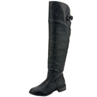 Womens Knee High Boots Back Lace Up Over The Knee Riding Shoes Black SZ