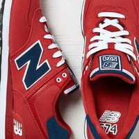 AEO Men's New Balance Pique Polo Pack 574 Sneaker (Red)
