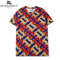Burberry Summer New Fashion More Letter Print Women Men Top T-Shirt