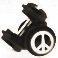 Body Accentz™ Earrings Rings Fake Peace Sign Cheater Plug 16 gauge - Sold as a pair
