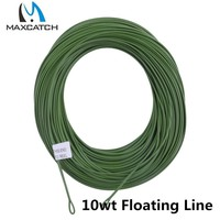 Maxcatch 10wt Weight Forward Floating Fly Fishing Line With 2 Welded Loops Fly Line