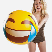 BIG MOUTH INC Giant Tears Of Joy Emoji Beach Ball | Toys & Novelties