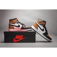 Air Jordan 1 Retro Black/Brown Basketball Shoes 40-47