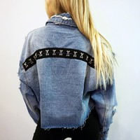 """Of Corset Is"" Denim Jacket"