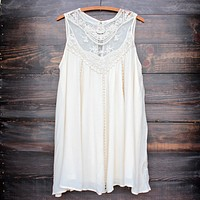 natural boho crochet lace dress