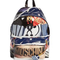 Moschino Editorial Logo Faux Leather Backpack | Nordstrom
