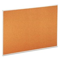 Universal 48 x 36 in. Natural Cork Bulletin Board with Aluminum Frame