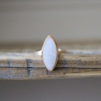 Marquis Druzy Ring - Cottontail