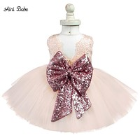Princess Kid Baby Girl Sequins Dress Party Halloween Fluffy Clothes Toddler Girl Gown
