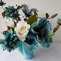 Fused Glass Art Vase *free shipping* from C & J Designs