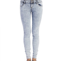 4-Button High Waisted Skinny Jeans   Wet Seal