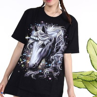 Glitters For Dinner — Unicorn Tee in Black