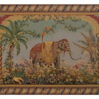 Le Elephant  European Tapestry Wall Hanging