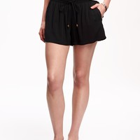 Mid-Rise Soft Shorts for Women | Old Navy
