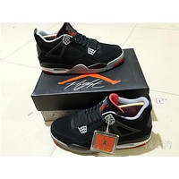 Air Jordan 4 black Basketball Shoes 36-47