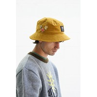 Corduroy Bucket Hat in Yellow