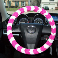 Wide Fuchsia Chevron Steering Wheel Cover by mammajane on Etsy