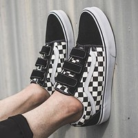 Vans Old Skoo Black White Checkerboard Magic Stick Flat Shoe Sneaker I-CSXY