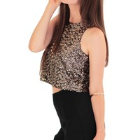 swank & Haight - Downtown Sequined Crop Top