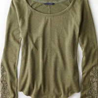 AEO Women's Lace Trim Thermal