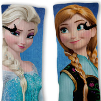 Disney Frozen Elsa & Anna Fast Shipping!! Nike Elite Socks Customized