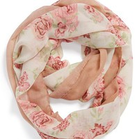 David & Young 'Rose' Floral Infinity Scarf (Juniors)