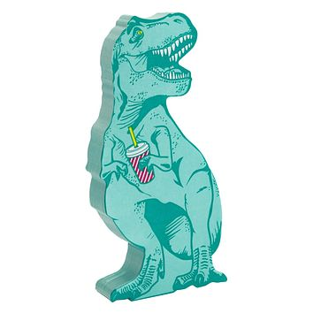 T-Rex Dinosaur Sticky Notes in Teal
