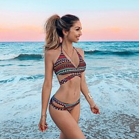 Sexy High Quality Summer Comfortable Geometric Print Swimwear [200325070863]