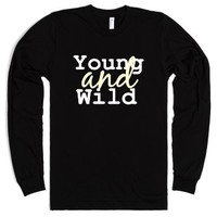 Young and Wild-Unisex Black T-Shirt