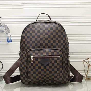 Louis Vuitton LV New Trendy Large Capacity Backpack Classic Check LV Letter Print Pattern Fashionable Men's and Women's Shoulder Bags Backpacks