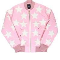 ALL STAR PATCHED CANDY JACKET MEN / LIGHT PINK - JOYRICH Store