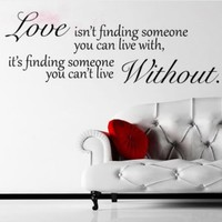 Wall Sticker Decal Mural Self Adhesive Paper Art Deco (Love Without Quote Sticker):Amazon:Home & Kitchen
