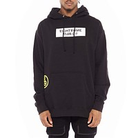 Trench Glitch Pullover Hoodie Black