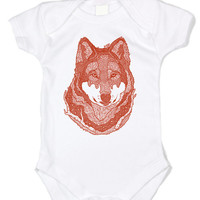 Newborn Baby Clothes Wolf Girls Clothing Custom Screen Prints by Geekstertees