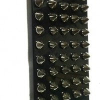 DIY Punk Style Mobile Phone Protective Cover for iPhone 5 Mobile Case with Studs and Spikes Black Silver