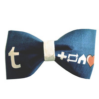 Tumblr Dash Inspired Hair Bow or Bow Tie Cute Fabric Bow