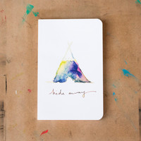 Hide Away Watercolor Tent Soft Cover Notebook