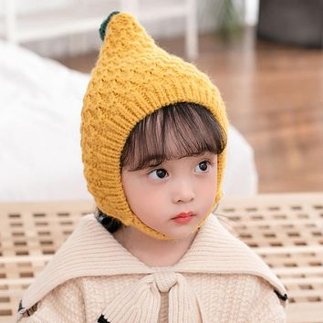 Qiu Dong Season Infants Cute Elf Spire Baby Hat More Boys And Girls Warm Ear Muffs Head Cap