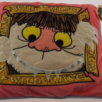 Where The Wild Things Are Pink Decorative Throw Pillow 14x14 Universal Studios