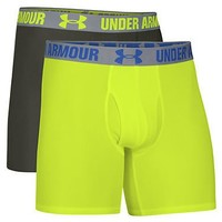 Under Armour HeatGear 6'' Boxerjock Boxer Brief 2-Pack Underwear 1238137 at BareNecessities.com