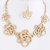 Knotted Flower Necklace