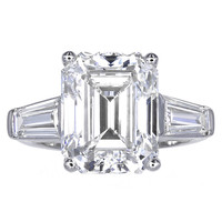 Emerald Cut Diamond Three Stone Ring