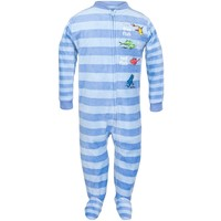Dr. Seuss - One Fish Two Fish Striped Toddler Foot Pajamas