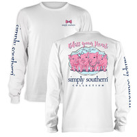 """Simply Southern """"Preppy Piglets"""" Long Sleeve T-Shirt"""