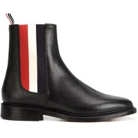 Thom Browne Tricolor Panel Chelsea Boots - Farfetch