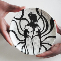 A Sister Radiating Good Vibes a Hand Painted Decorative Upcycled Plate